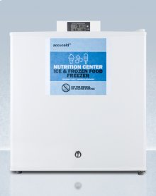 Commercially Approved Nutrition Center Series Compact All-freezer In White With Front Lock and Nist Calibrated Digital Temperature Display