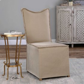 Lenore, Armless Chair, Khaki, 2 Per