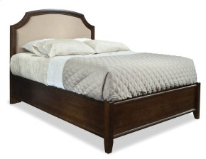 King Upholstered Panel Bed