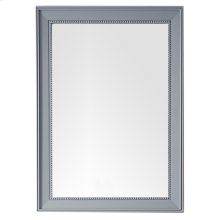 "Bristol 29"" Rectangular Mirror, Silver Gray"