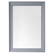 "Bristol 29"" Rectangular Mirror, Silver Gray"