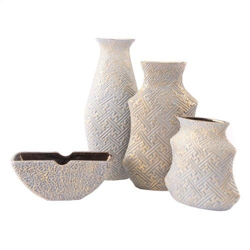 Arcadia Lg Vase Gray & Gold