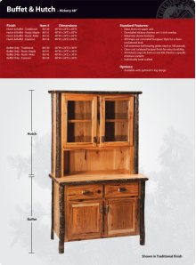 """Hickory Buffet and Hutch - 48"""""""