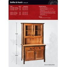 Hickory Buffet and Hutch - 48""