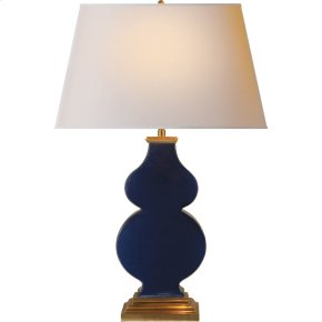 Visual Comfort AH3063MB-NP Alexa Hampton Anita 29 inch 150 watt Midnight Blue Porcelain Decorative Table Lamp Portable Light