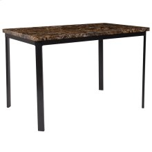 """Avalon 30"""" x 45.75"""" Rectangular Dining Table in Espresso Marble-Like Finish"""