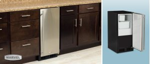 "15"" Crescent Ice Machine - Solid Stainless Steel Door - Right Hinge"