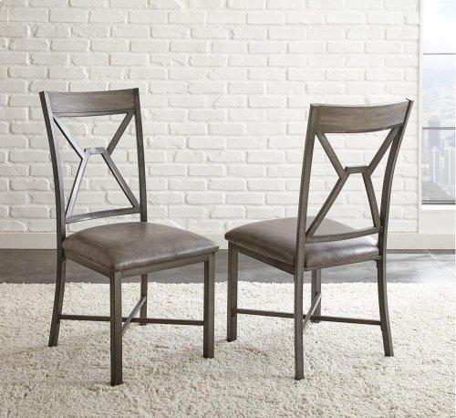 "Alamo Gray PU Side Chair 19"" x 24"" x 39"""