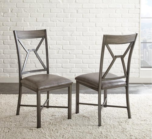 "Alamo Gray PU Side Chair 19"" x 24"" x 39"""