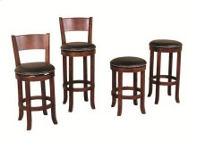 "Cappuccino Swivel Backless 24"" Barstool"