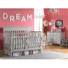 Fisher-Price Newbury Convertible Crib, Misty Grey