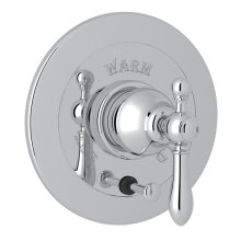 Polished Chrome Arcana Integrated Volume Control Pressure Balance Trim With Diverter with Arcana Series Only Classic Metal Lever