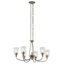 Waverly Oval 6 Light Chandelier Classic Pewter
