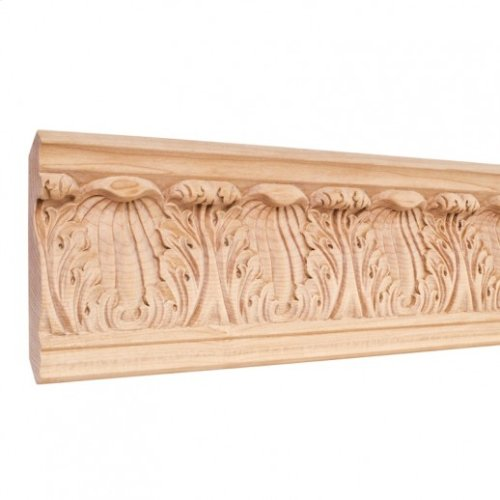 "4-3/4"" x7/8"" x 96"" Hand Carved Moulding. Species: Basswood. Priced by the linear foot and sold in 8' sticks in cartons of 80'."