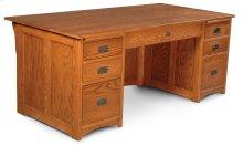 "Prairie Mission Executive Desk, Prairie Mission Executive Desk, 62"""