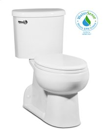 White RIOSE Two-Piece Toilet, Rear Outlet 1.28gpf, Elongated, Right-Hand Lever