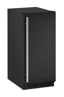"1000 Series 15"" Crescent Ice Maker With Black Solid Finish and Field Reversible Door Swing (115 Volts / 60 Hz)"
