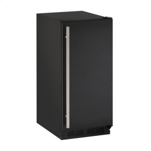 "U-Line1000 Series 15"" Crescent Ice Maker With Black Solid Finish and Field Reversible Door Swing (115 Volts / 60 Hz)"