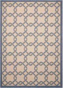 Caribbean Crb16 Ivory Blue Rectangle Rug 5'3'' X 7'5''