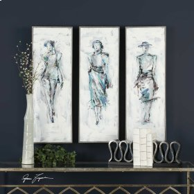 Styling Hand Painted Canvases, S/3