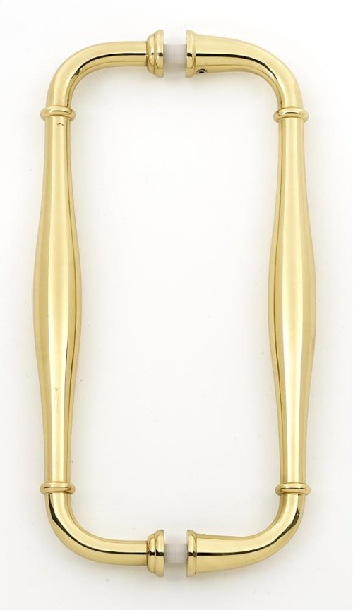 Charlie's Collection Back-to-Back Pull G726-8 - Polished Brass