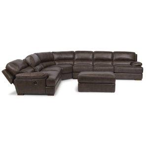 FLEXSTEELJade Leather Sectional