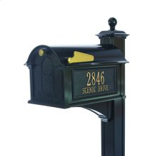 Balmoral Mailbox Side Plaques, Post Package - Black