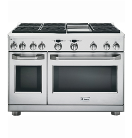 """48"""" Dual-Fuel Professional Range with 6 Burners and Griddle"""
