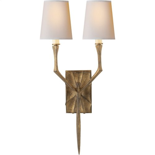 Visual Comfort S2120GI-NP Studio Bristol 2 Light 8 inch Gilded Iron with Wax Decorative Wall Light