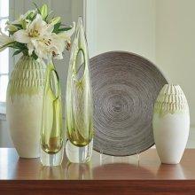 Cut Carved Vase-Sage-XLg