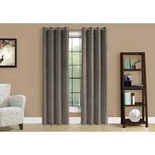 "CURTAIN PANEL - 2PCS / 52""W X 84""H TAUPE ROOM DARKENING"