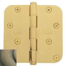 "Satin Brass and Black 5/8"" Radius Corner Hinge"