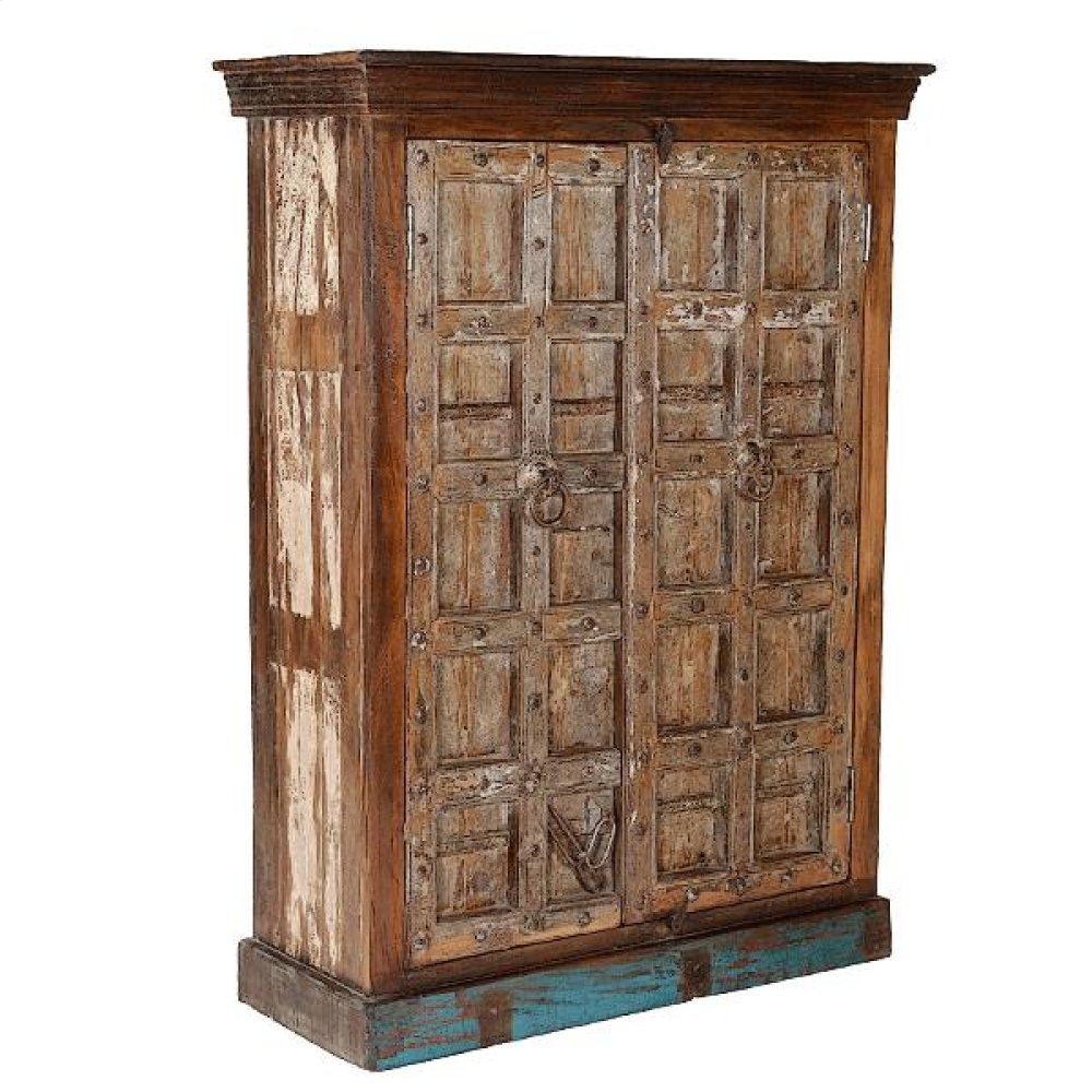 Painted Jailhouse Armoire