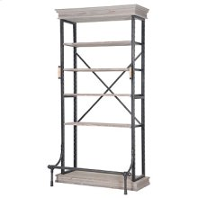 Braxton Single Bookcase-Washed Gry/Bert