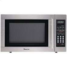1.3-Cubic-ft Countertop Microwave (Stainless Steel)