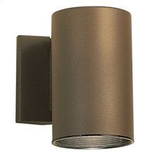 1 Light Wall Cylinder Architectural Bronze