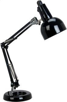 Swing Arm Desk Lamp, Black, E27 Cfl 13w
