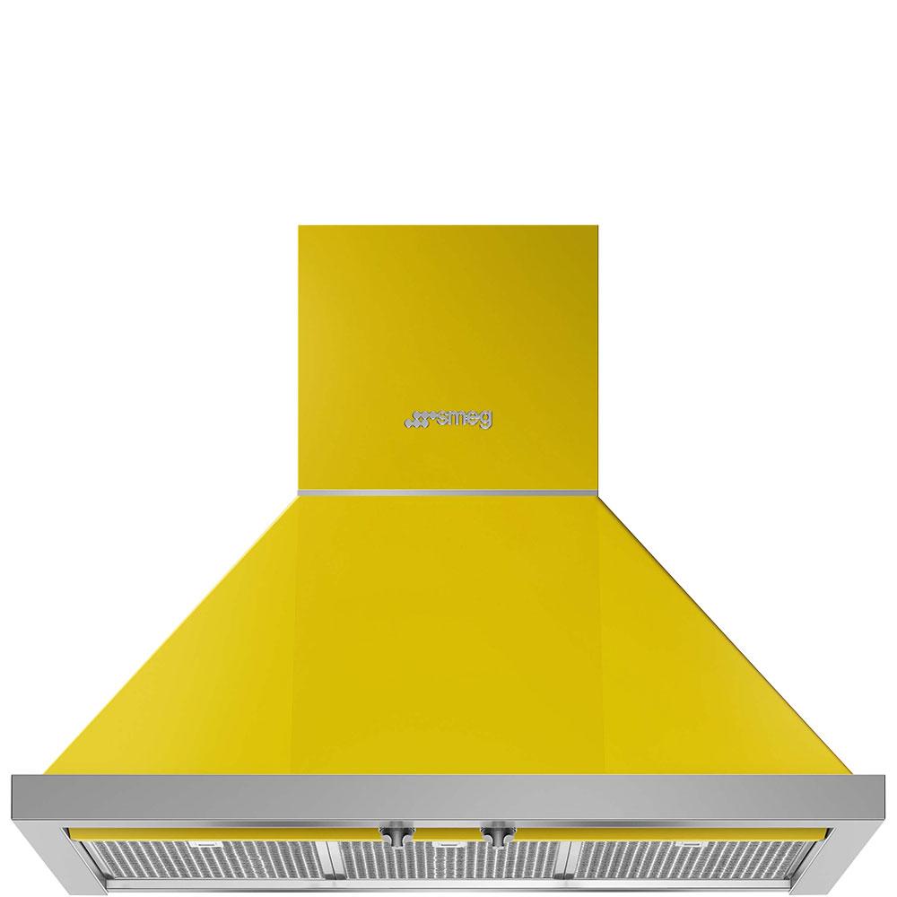 """Smeg30"""" Portofino Chimney Hood, Yellow"""