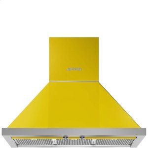 "Smeg30"" Portofino Chimney Hood, Yellow"