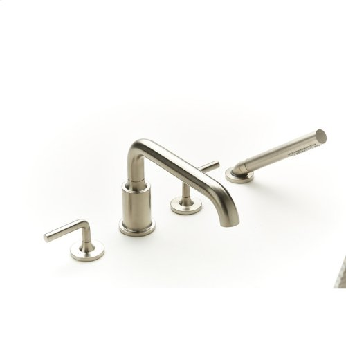 Roman Tub Faucet With Hand Shower Taos Series 17 Satin Nickel
