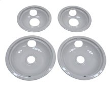 Gray Replacement Burner Bowls - 4 Pack