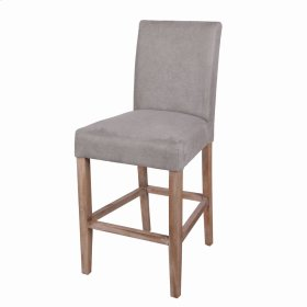 Hartford Fabric Counter Stool Brushed Smoke Legs, Denim Dove