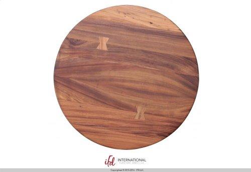 Bistro Table Base Barrel Shaped with Shelves - w/footrest