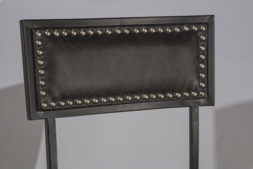 Thielmann Commercial Swivel Bar Stool - Charcoal/charcoal