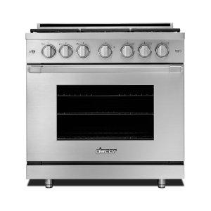 "Dacor36"" Heritage Gas Pro Range-SS Nat. Gas"