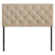 Theodore Queen Upholstered Fabric Headboard in Beige