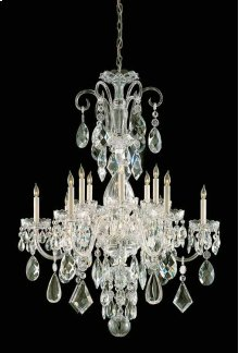 Traditional Crystal12 Light Clear Crystal Brass Chandelier I