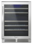 """Whirlpool® 24"""" Undercounter Wine Center with Dual-Temperature Control Product Image"""