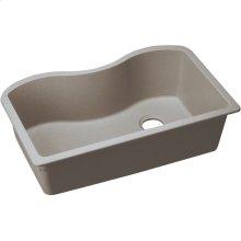 "Elkay Quartz Classic 33"" x 20"" x 9-1/2"", Single Bowl Undermount Sink, Greige"