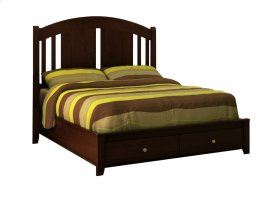 Rossport Low Profile Storage Bed (curved top)